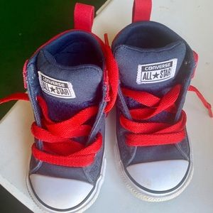 Converse Shoes - Navy/Red Toddler Converse
